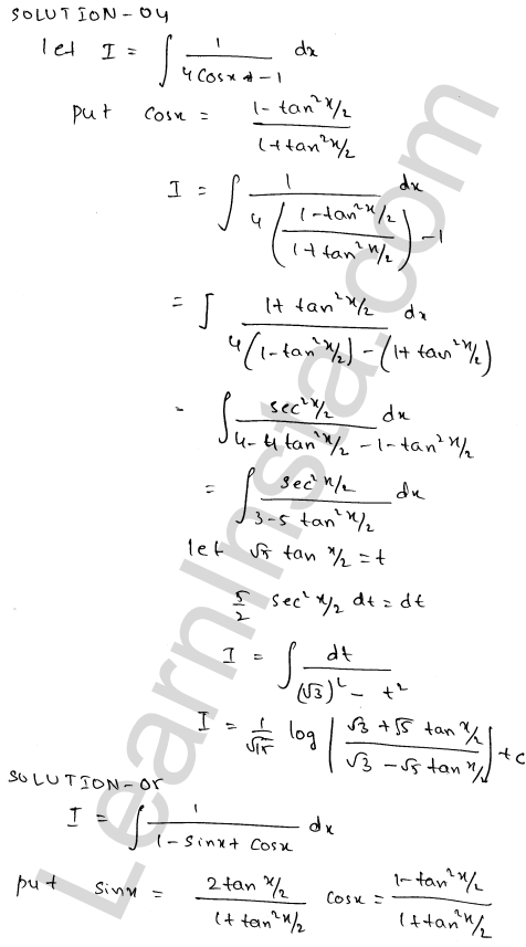 RD Sharma Class 12 Maths Solutions Chapter 19 Indefinite Integrals Ex 19.23 4