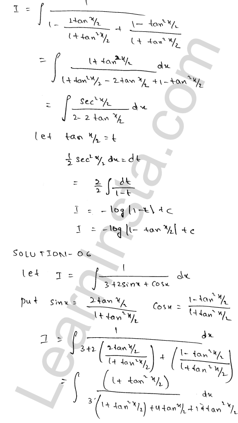 Solution of RD Sharma class 12 chapter 19 Indefinite Integrals Ex 19.23 5