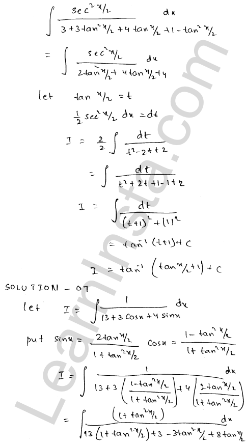 Class 12 RD Sharma solutions chapter 19 Indefinite Integrals Ex 19.23 6