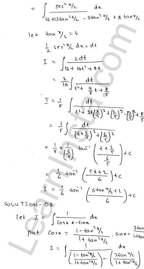 Class 12 RD Sharma maths solutions chapter 19 Indefinite Integrals Ex 19.23 7