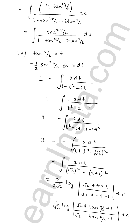RD Sharma Class 12 Solutions Chapter 19 Indefinite