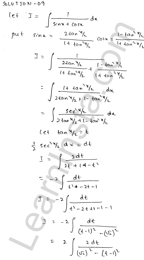 RD Sharma Class 12 Solutions Indefinite Integrals Chapter 19 Ex 19.23 9