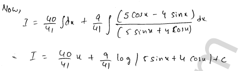 RD Sharma Solutions Class 12 Indefinite Integrals Chapter 19 Ex 19.24 10