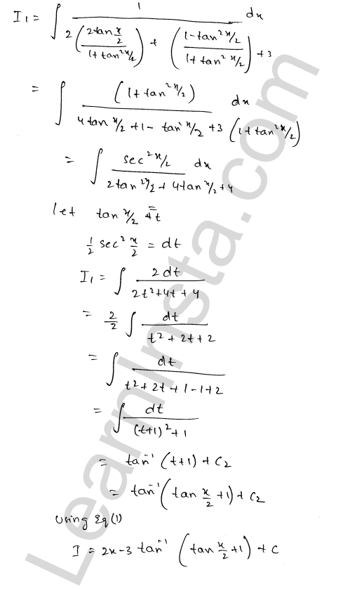 RD Sharma Solutions Class 12 Indefinite Integrals Chapter 19 Ex 19.24 3