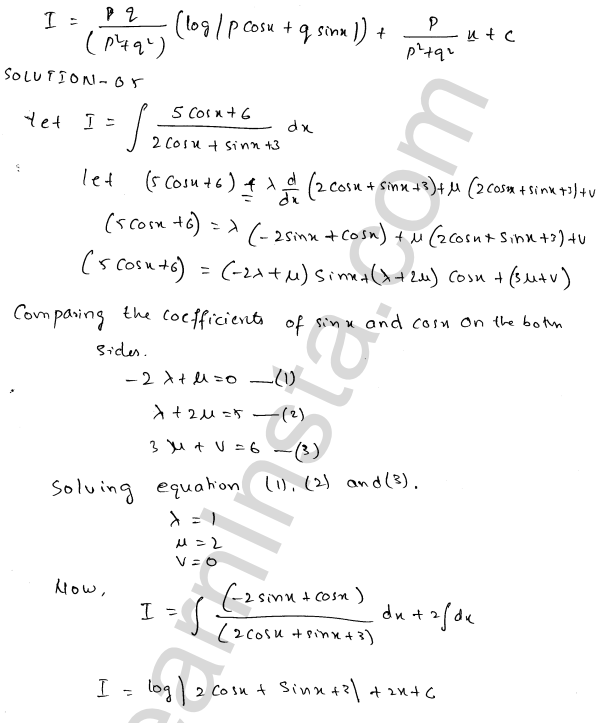 Solution of RD Sharma class 12 chapter 19 Indefinite Integrals Ex 19.24 5