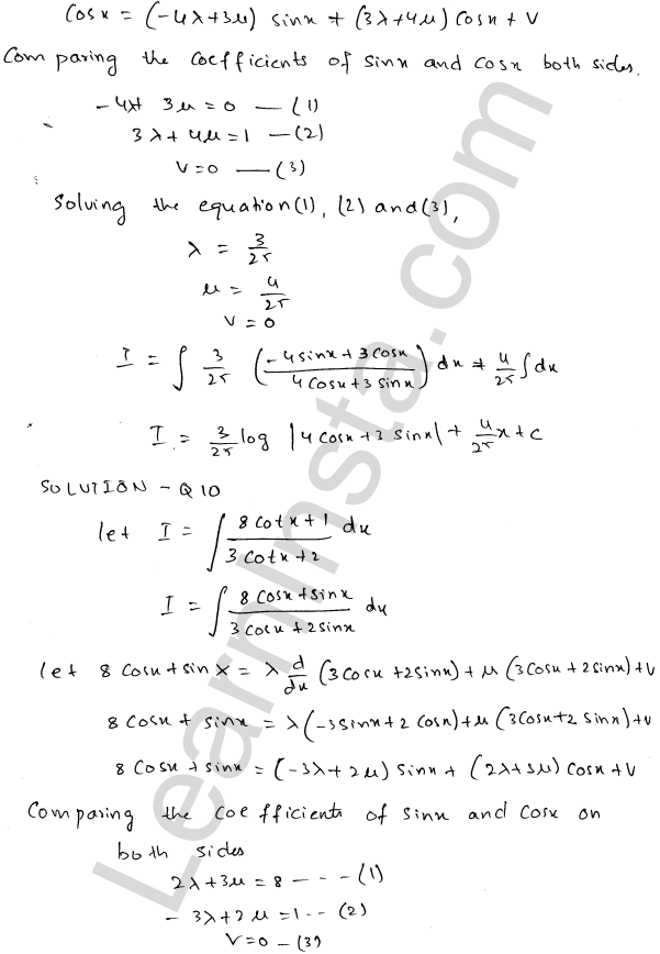 RD Sharma Class 12 Solutions Chapter 19 Indefinite Integrals Ex 19.24 8