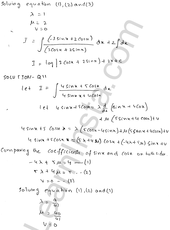 RD Sharma Class 12 Solutions Indefinite Integrals Chapter 19 Ex 19.24 9