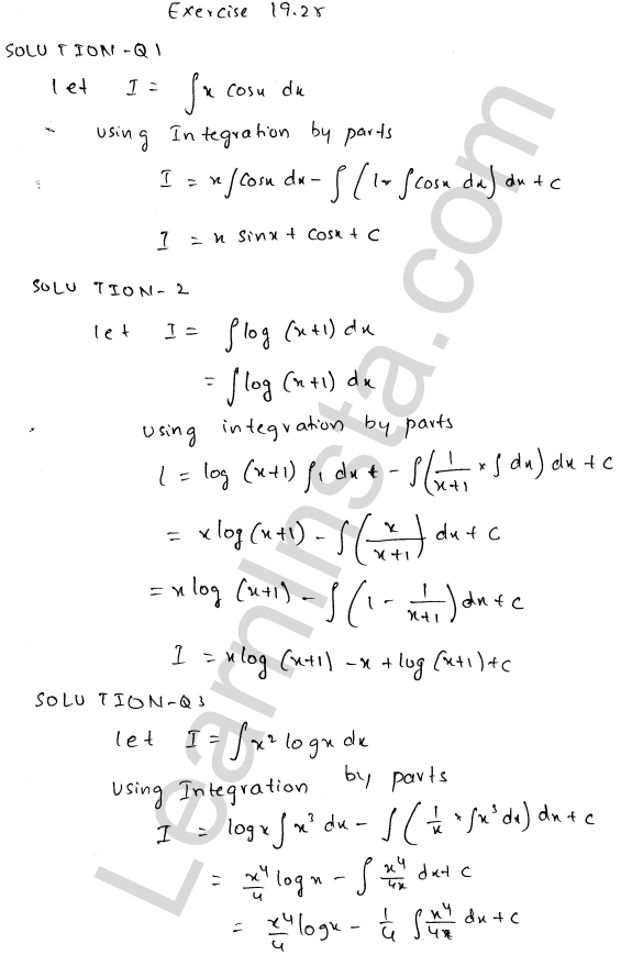 RD Sharma Class 12 Solutions Chapter 19 Indefinite Integrals Ex 19.25 1