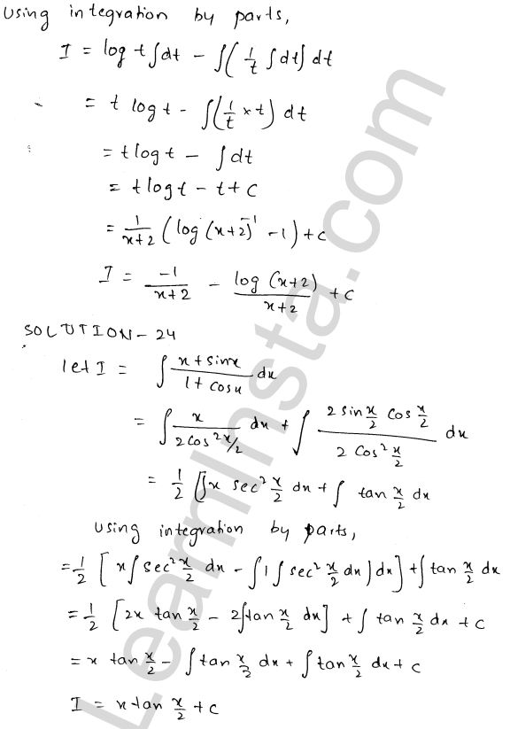 RD Sharma Solutions Class 12 Indefinite Integrals Chapter 19 Ex 19.25 11