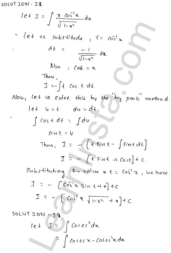 RD Sharma Class 12 Maths Solutions Chapter 19 Indefinite Integrals Ex 19.25 13