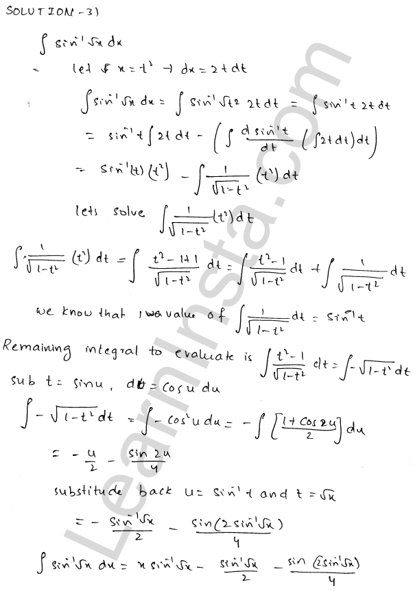 RD Sharma Class 12 Maths Solutions Chapter 19 Indefinite Integrals Ex 19.25 15