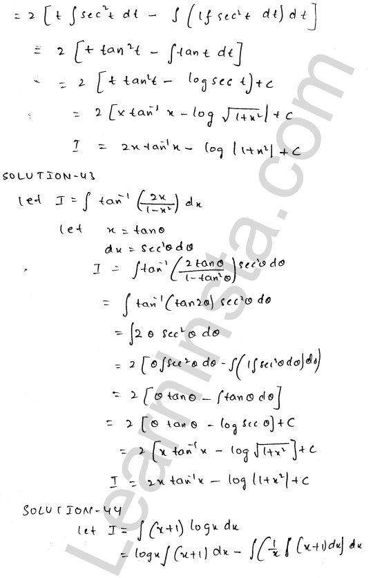 Class 12 RD Sharma solutions chapter 19 Indefinite Integrals Ex 19.25 23