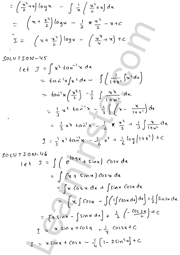 Class 12 RD Sharma solutions chapter 19 Indefinite Integrals Ex 19.25 24