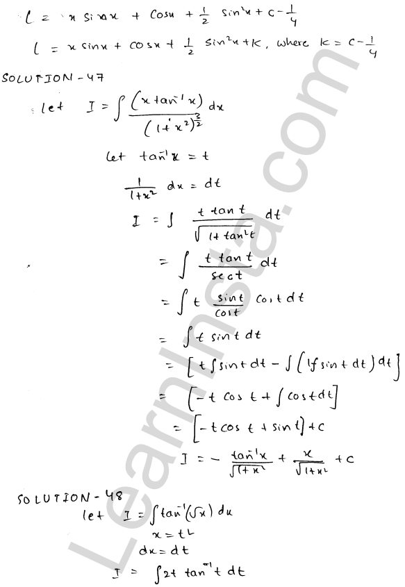 Class 12 RD Sharma maths solutions chapter 19 Indefinite Integrals Ex 19.25 25
