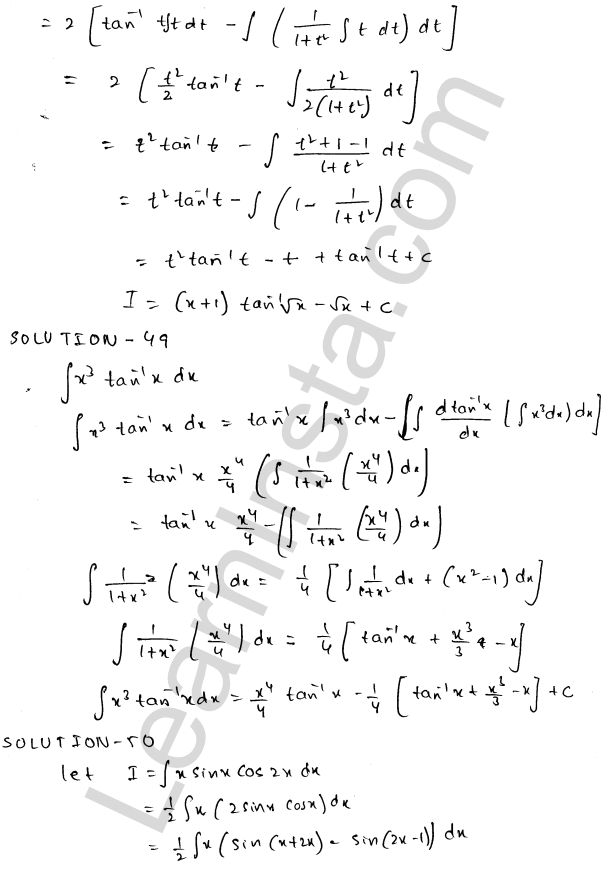Class 12 RD Sharma maths solutions chapter 19 Indefinite Integrals Ex 19.25 26