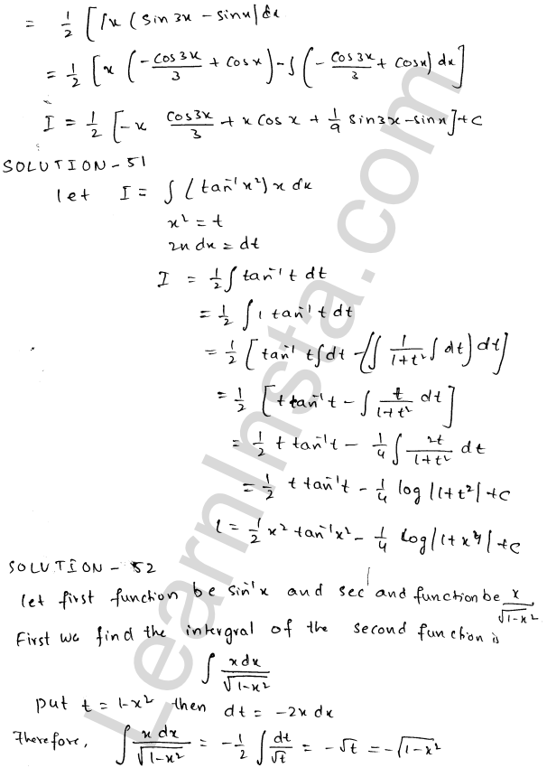 Class 12 RD Sharma maths solutions chapter 19 Indefinite Integrals Ex 19.25 27