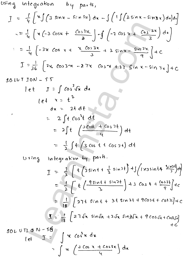 RD Sharma Class 12 Solutions Chapter 19 Indefinite Integrals Ex 19.25 29