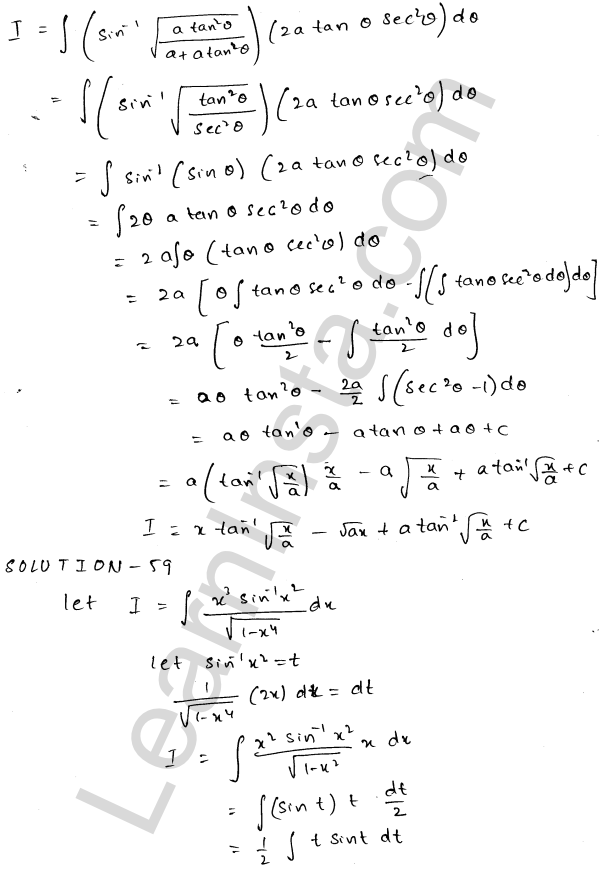 RD Sharma Solutions Class 12 Indefinite Integrals Chapter 19 Ex 19.25 31
