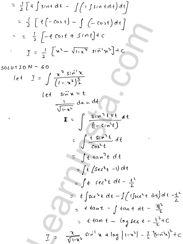 RD Sharma Class 12 Maths Solutions Chapter 19 Indefinite Integrals Ex 19.25 32