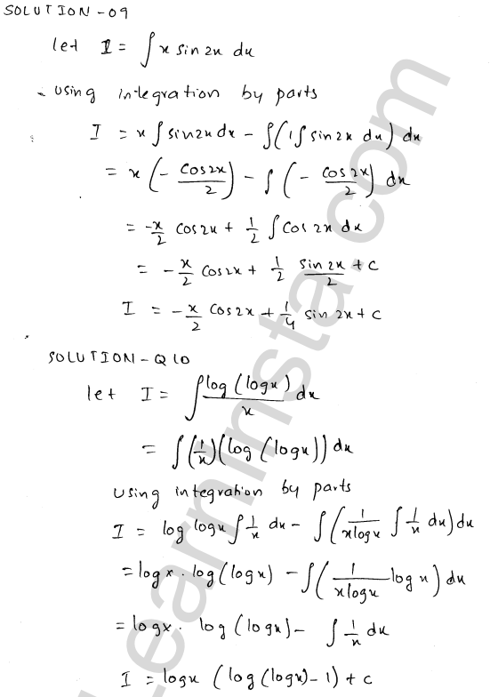 RD Sharma Class 12 Solutions Chapter 19 Indefinite Integrals Ex 19.25 4