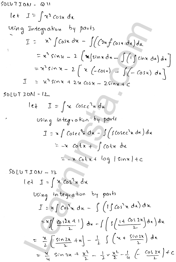 RD Sharma Class 12 Solutions Indefinite Integrals Chapter 19 Ex 19.25 5