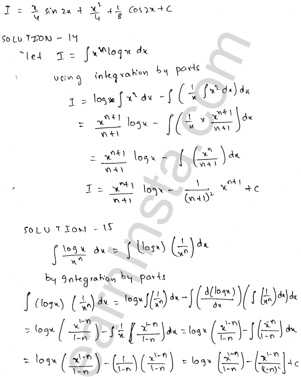 RD Sharma Class 12 Solutions Indefinite Integrals Chapter 19 Ex 19.25 6