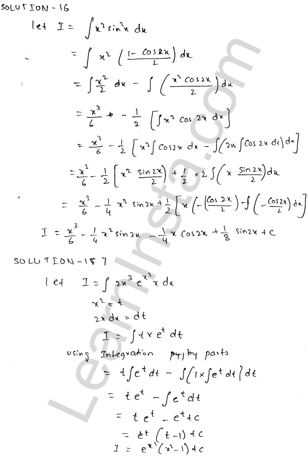 RD Sharma Class 12 Solutions Indefinite Integrals Chapter 19 Ex 19.25 7