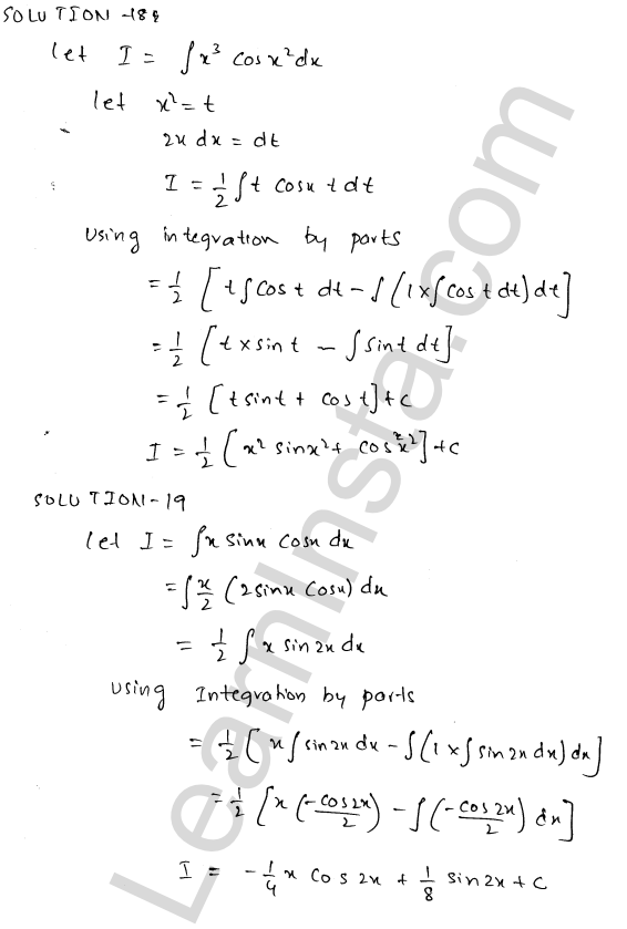 RD Sharma Class 12 Solutions Indefinite Integrals Chapter 19 Ex 19.25 8
