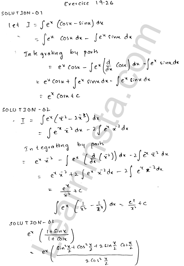 RD Sharma Class 12 Solutions Chapter 19 Indefinite Integrals Ex 19.26 1