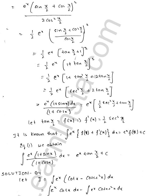 RD Sharma Class 12 Solutions Indefinite Integrals Chapter 19 Ex 19.26 2
