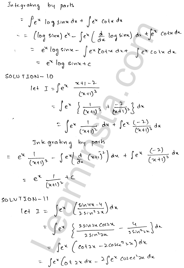 Solution of RD Sharma class 12 chapter 19 Indefinite Integrals Ex 19.26 5