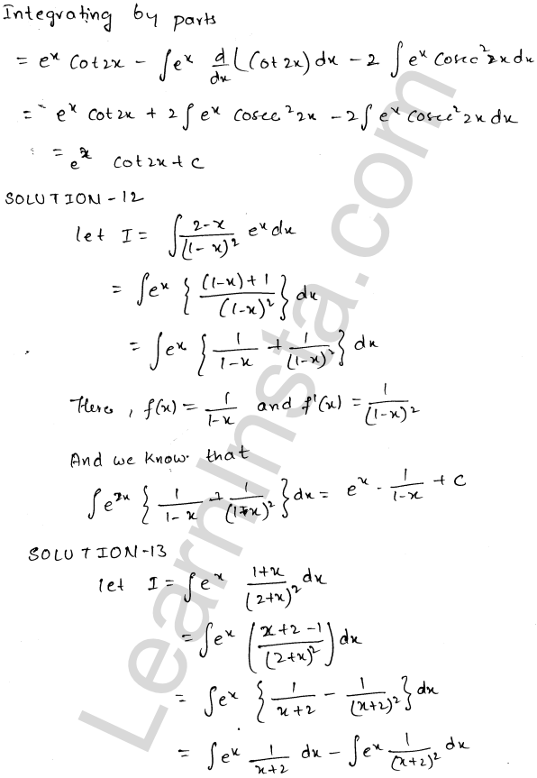 Class 12 RD Sharma solutions chapter 19 Indefinite Integrals Ex 19.26 6