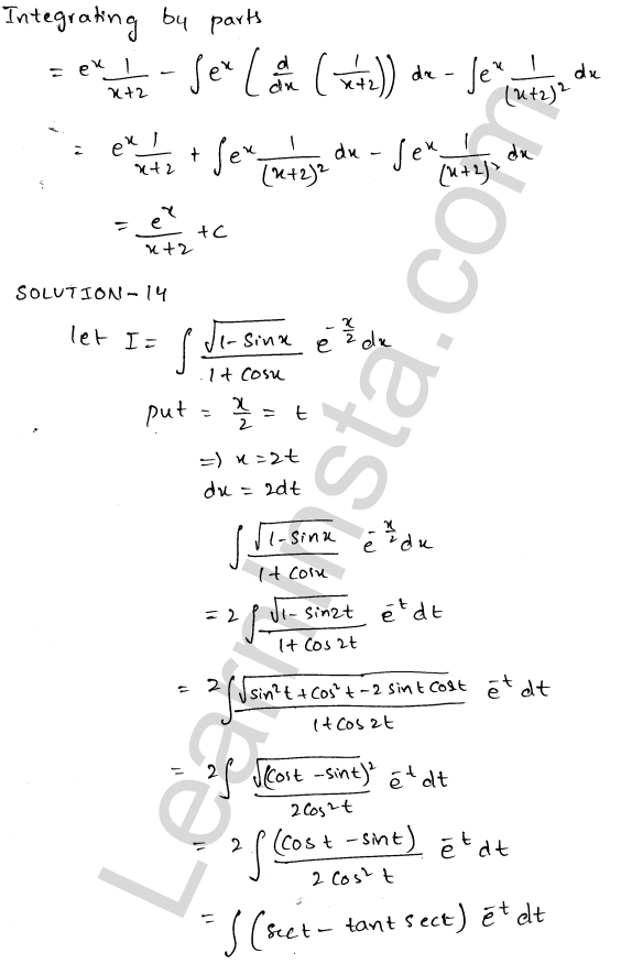 Class 12 RD Sharma maths solutions chapter 19 Indefinite Integrals Ex 19.26 7