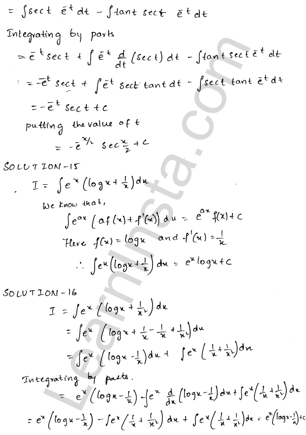 RD Sharma Class 12 Solutions Chapter 19 Indefinite Integrals Ex 19.26 8