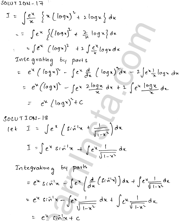 RD Sharma Class 12 Solutions Indefinite Integrals Chapter 19 Ex 19.26 9