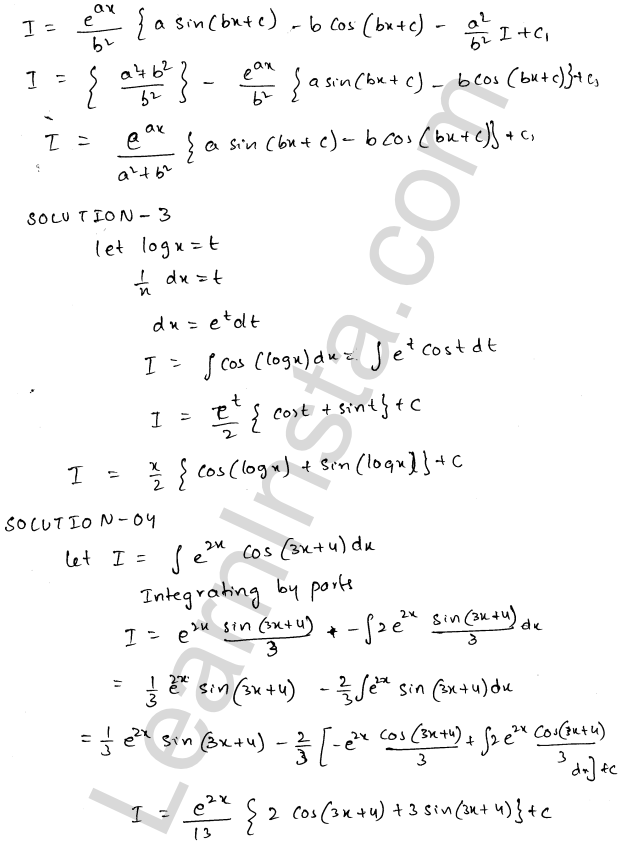 RD Sharma Class 12 Solutions Indefinite Integrals Chapter 19 Ex 19.27 2