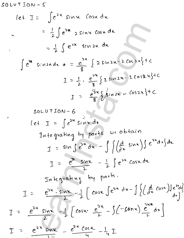RD Sharma Solutions Class 12 Indefinite Integrals Chapter 19 Ex 19.27 3