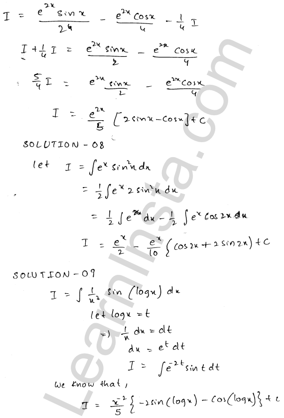 RD Sharma Class 12 Maths Solutions Chapter 19 Indefinite Integrals Ex 19.27 4