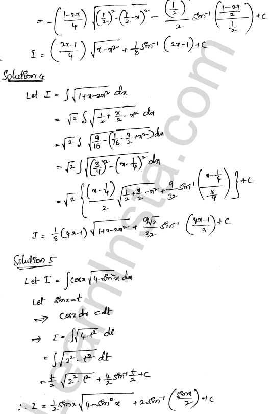 RD Sharma Class 12 Solutions Indefinite Integrals Chapter 19 Ex 19.28 2