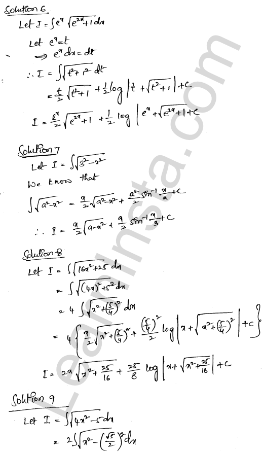 RD Sharma Solutions Class 12 Indefinite Integrals Chapter 19 Ex 19.28 3