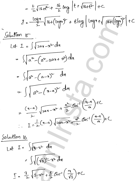 Class 12 RD Sharma solutions chapter 19 Indefinite Integrals Ex 19.28 6