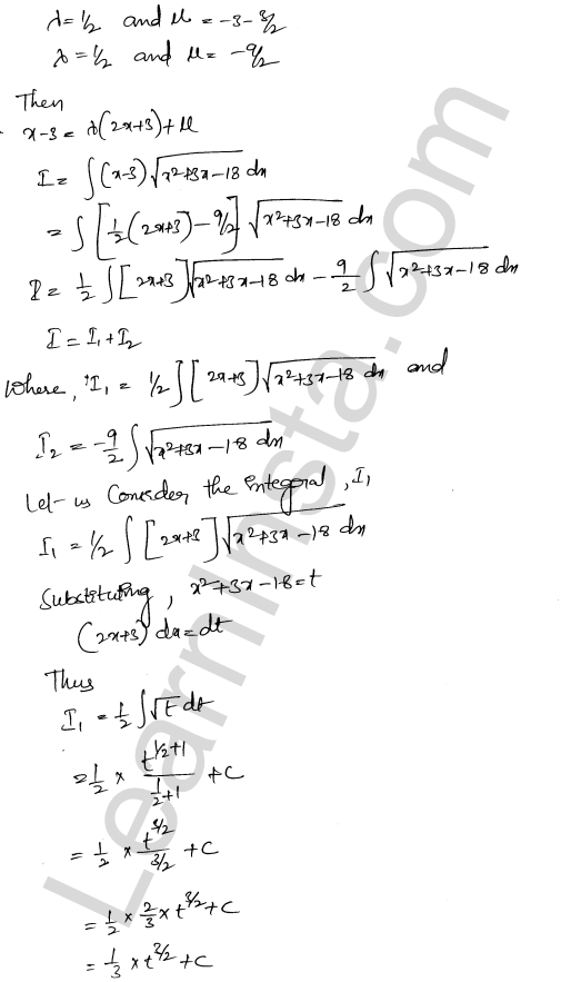 RD Sharma Solutions Class 12 Indefinite Integrals Chapter 19 Ex 19.29 10