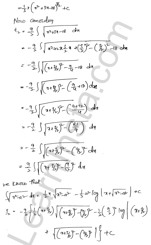 RD Sharma Class 12 Maths Solutions Chapter 19 Indefinite Integrals Ex 19.29 11