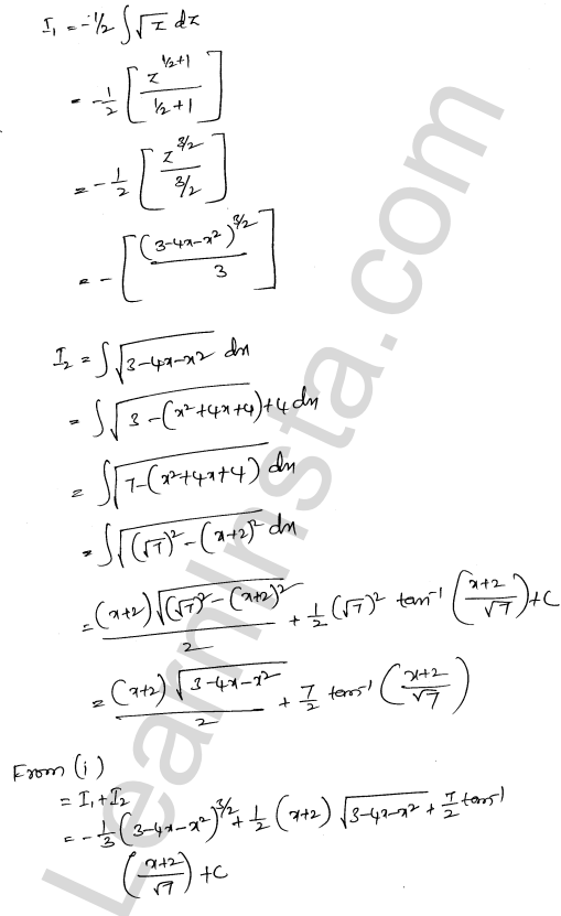 Class 12 RD Sharma solutions chapter 19 Indefinite Integrals Ex 19.29 13