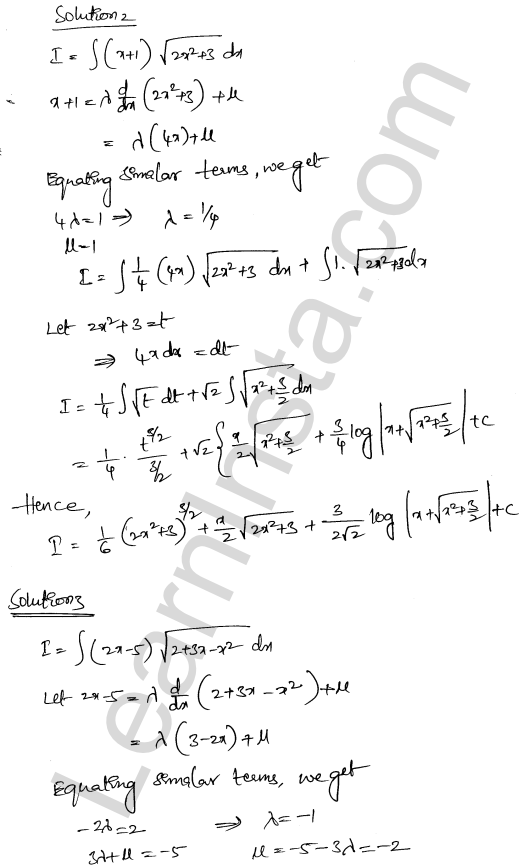 RD Sharma Class 12 Solutions Indefinite Integrals Chapter 19 Ex 19.29 2