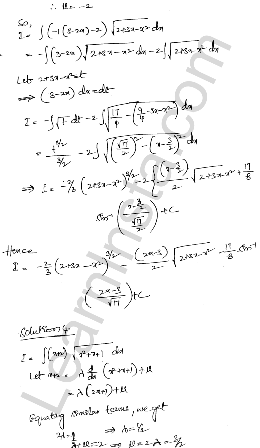 RD Sharma Solutions Class 12 Indefinite Integrals Chapter 19 Ex 19.29 3