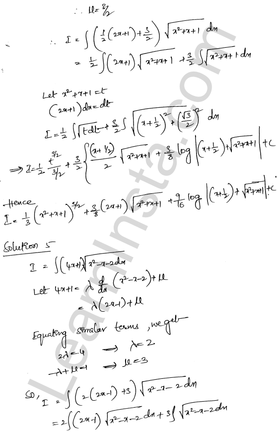 RD Sharma Class 12 Maths Solutions Chapter 19 Indefinite Integrals Ex 19.29 4