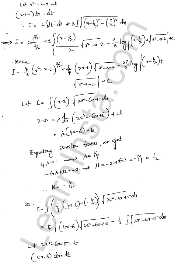 Solution of RD Sharma class 12 chapter 19 Indefinite Integrals Ex 19.29 5
