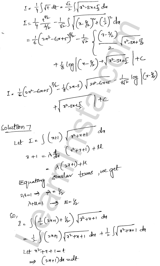 Class 12 RD Sharma solutions chapter 19 Indefinite Integrals Ex 19.29 6