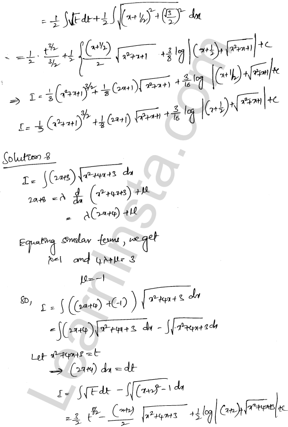 Class 12 RD Sharma maths solutions chapter 19 Indefinite Integrals Ex 19.29 7